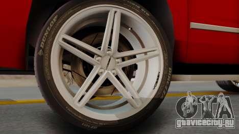 Chevrolet Suburban 2015 LTZ для GTA San Andreas вид сзади слева