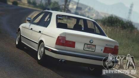 BMW 535i E34 для GTA 5 вид сзади слева