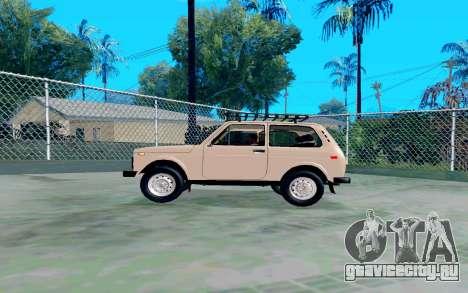 ВАЗ Нива для GTA San Andreas вид слева