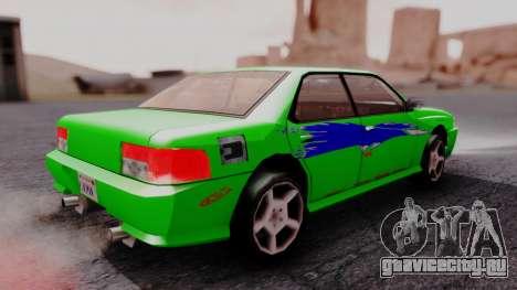 Sultan F&F Eclipse PJ для GTA San Andreas вид слева