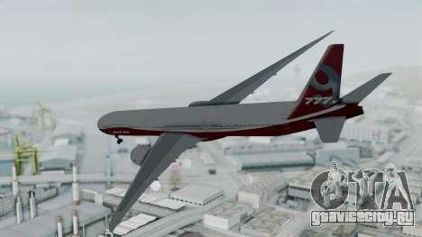 Boeing 777-9x House для GTA San Andreas вид слева