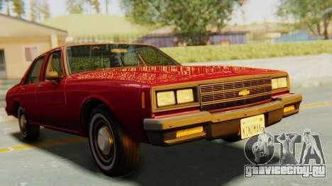 Chevrolet Impala 1984 для GTA San Andreas вид справа