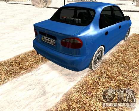 Daewoo Lanos 2001 Winter для GTA San Andreas вид справа