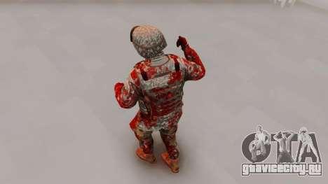 Zombie Military Skin для GTA San Andreas третий скриншот