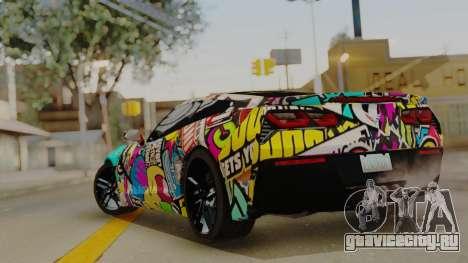 Chevrolet Corvette Stingray C7 2014 Sticker Bomb для GTA San Andreas вид слева