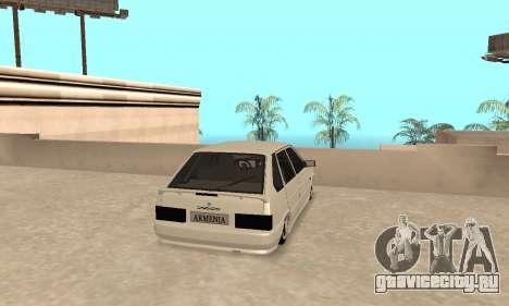 Vaz 2114 Armenian для GTA San Andreas вид справа