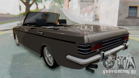Peykan 80 Spyder для GTA San Andreas вид сзади слева
