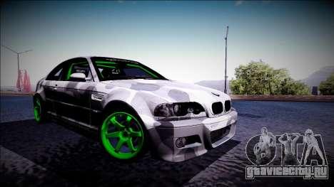 BMW M3 E46 Drift Monster Energy для GTA San Andreas вид слева