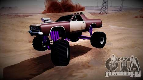 Picador Monster Truck для GTA San Andreas вид изнутри