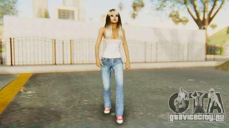 Blonde White Top для GTA San Andreas второй скриншот