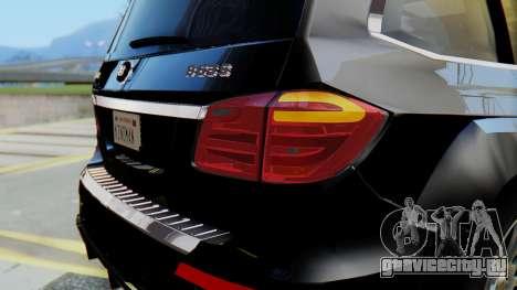 Brabus B63S для GTA San Andreas вид снизу