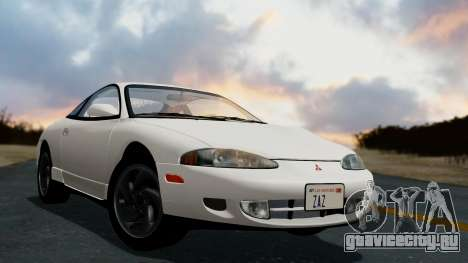 Mitsubishi Eclipse GST 1995 для GTA San Andreas вид слева
