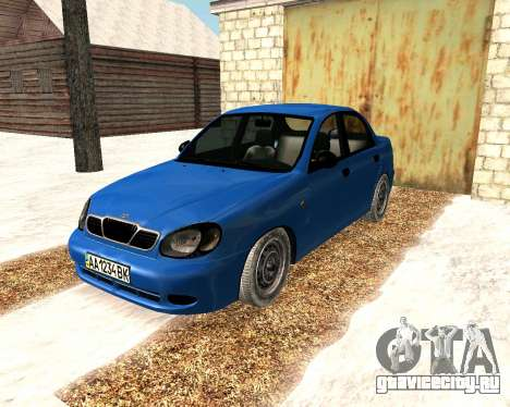 Daewoo Lanos 2001 Winter для GTA San Andreas