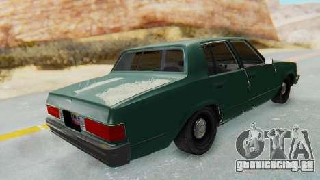 Chevrolet Malibu 1981 Twin Turbo для GTA San Andreas вид сзади слева