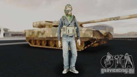 Somalia Militia Woodland Camo для GTA San Andreas второй скриншот