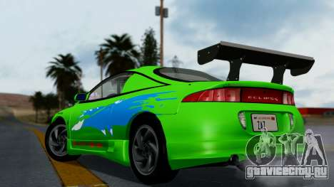 Mitsubishi Eclipse GST 1995 для GTA San Andreas вид снизу
