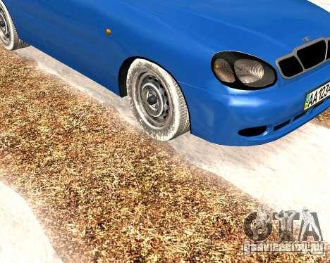 Daewoo Lanos 2001 Winter для GTA San Andreas вид слева