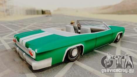 Blade F&F3 Mustang PJ для GTA San Andreas вид сзади слева