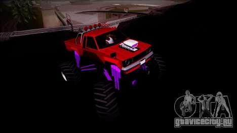 GTA 5 Karin Rebel Monster Truck для GTA San Andreas вид изнутри