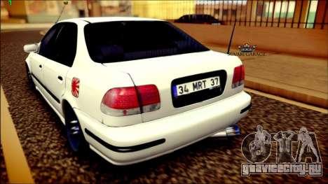 Honda Civic by Snebes для GTA San Andreas вид сзади слева