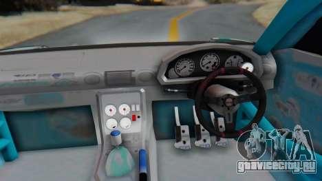 Nissan Silvia s15 Itasha [EDE-Crew] для GTA San Andreas вид сзади