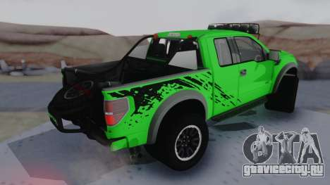 Ford F-150 SVT Raptor 2012 для GTA San Andreas вид сзади слева
