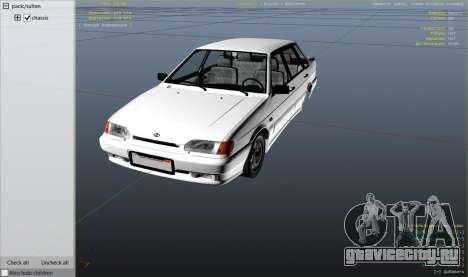 ВАЗ 2115 для GTA 5 колесо и покрышка