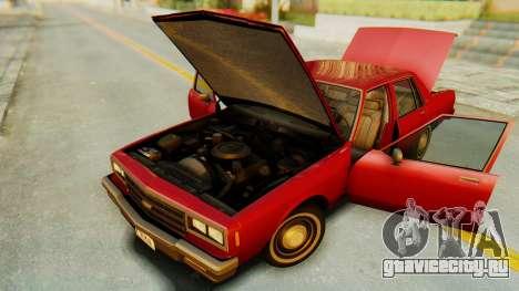 Chevrolet Impala 1984 для GTA San Andreas вид изнутри