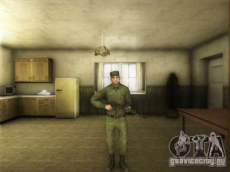 Рядовой Современной Армии России для GTA San Andreas третий скриншот