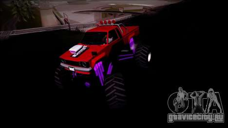 GTA 5 Karin Rebel Monster Truck для GTA San Andreas вид сзади