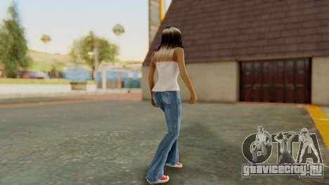 Blonde White Top для GTA San Andreas третий скриншот