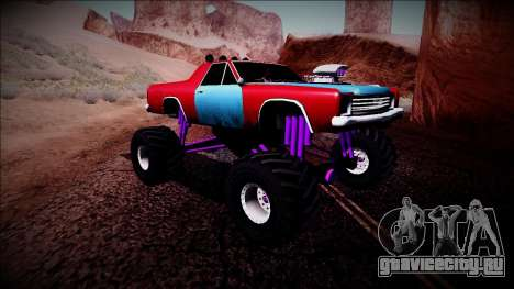 Picador Monster Truck для GTA San Andreas вид сзади