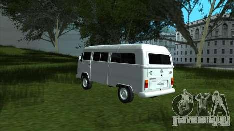 Volkswagen Kombi 2004 для GTA San Andreas вид сзади слева