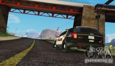 Ford Explorer Police для GTA San Andreas вид сзади слева