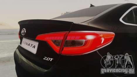Hyundai Sonata Turbo 2.0 2015 V1.0 Final для GTA San Andreas вид сбоку