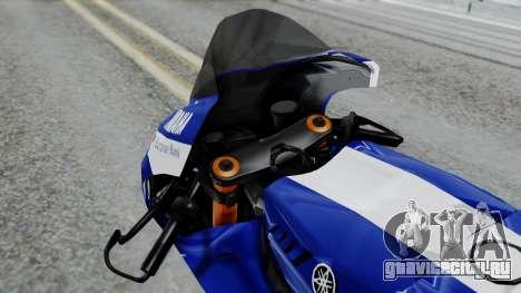 Yamaha YZR-M1 VR46 для GTA San Andreas вид справа