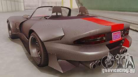 GTA 5 Bravado Banshee 900R Carbon IVF для GTA San Andreas вид сзади слева