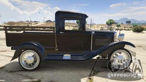 Ford A Pick-up 1930 для GTA 5 вид слева