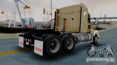 Kenworth T800 38s Flat Top для GTA San Andreas вид сзади слева
