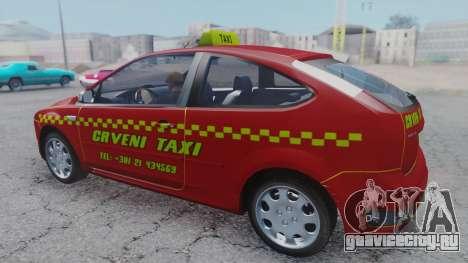 Ford Focus ST Taxi для GTA San Andreas вид сзади слева