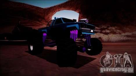 GTA 5 Karin Rebel Monster Truck для GTA San Andreas вид сзади слева