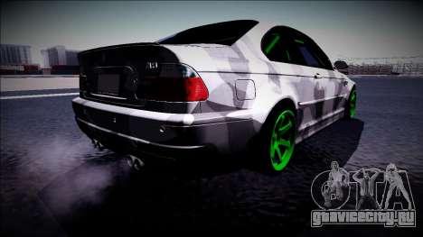 BMW M3 E46 Drift Monster Energy для GTA San Andreas вид сзади слева
