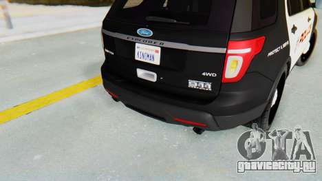 Ford Explorer Police для GTA San Andreas вид сзади
