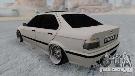 BMW 3-er E36 для GTA San Andreas вид сзади слева