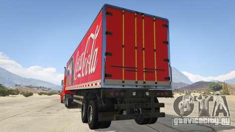 Coca Cola Truck v1.1 для GTA 5 вид сзади слева