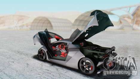 Lamborghini Sesto Elemento 2010 для GTA San Andreas вид изнутри