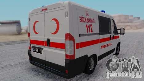 Fiat Ducato Turkish Ambulance для GTA San Andreas вид слева