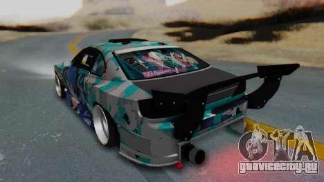 Nissan Silvia s15 Itasha [EDE-Crew] для GTA San Andreas вид слева