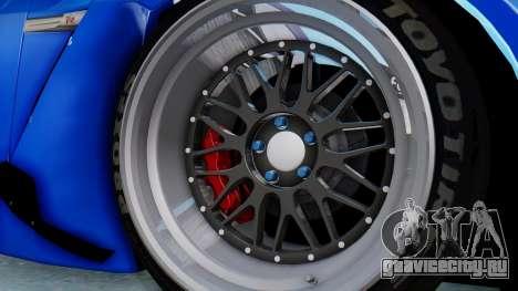 Nissan GT-R R35 Rocket Bunny для GTA San Andreas вид сзади