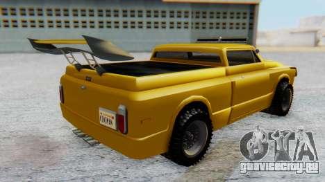 Slamvan v1.0 для GTA San Andreas вид сзади слева